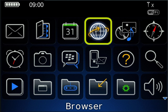 BlackBerry Internet Service Browser